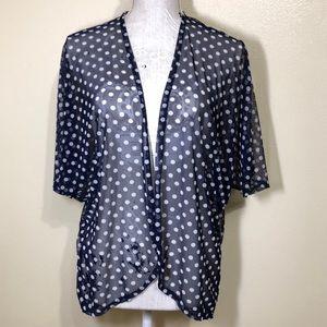 🔵Discreet Sheer Mesh Polka Dot Cardigan Kimono